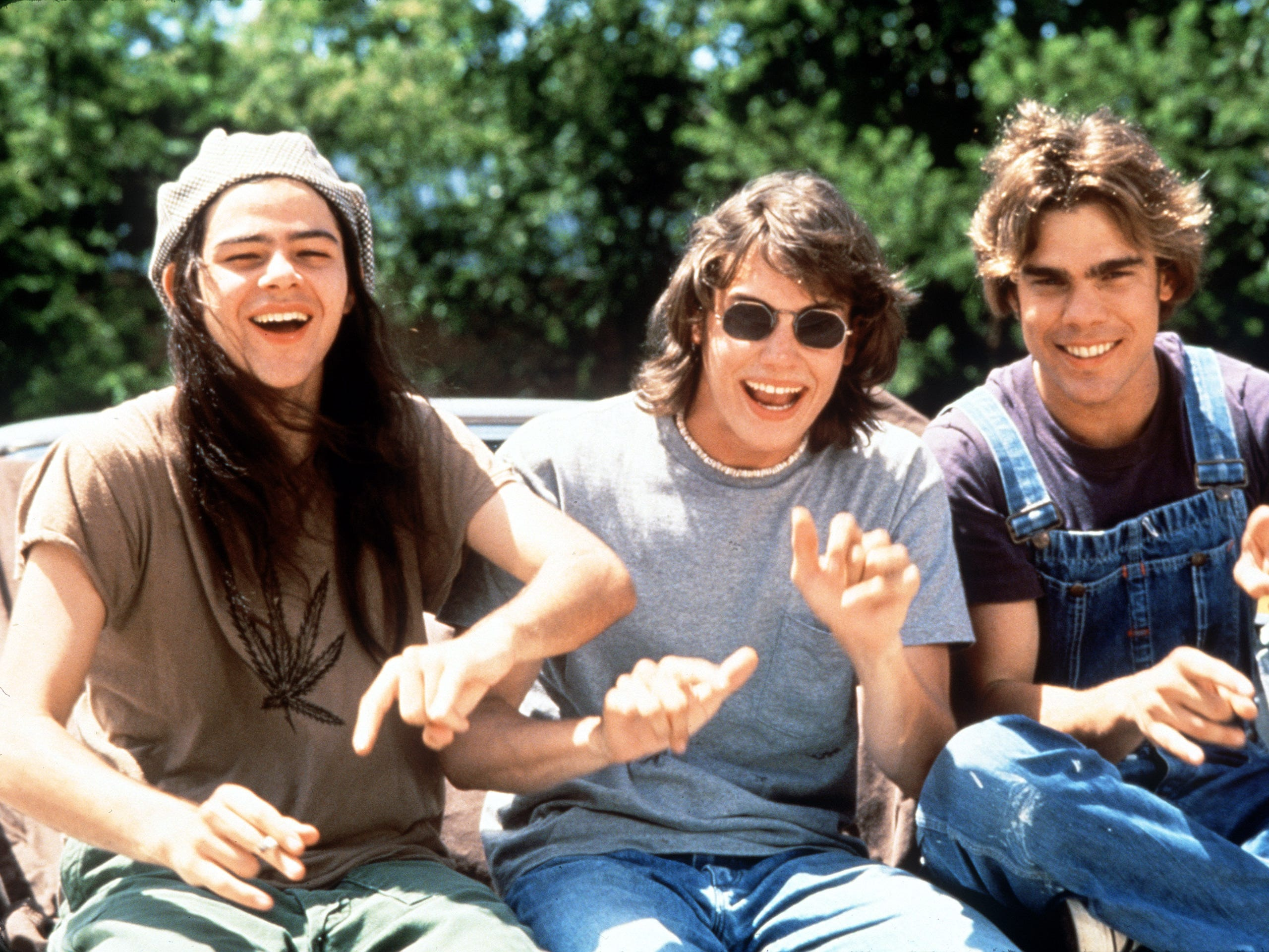 "Rory Cochrane, Jason London, and Sasha Jenson in Richard Linklater's 'Dazed and Confused,"" a Gramercy Pictures release. --- DATE TAKEN: rcvd 1998  By Gabor Szitanyi   Gramercy Pictures  , Source: Gramercy Pictures        HO      - handout ORG XMIT: UT75135"