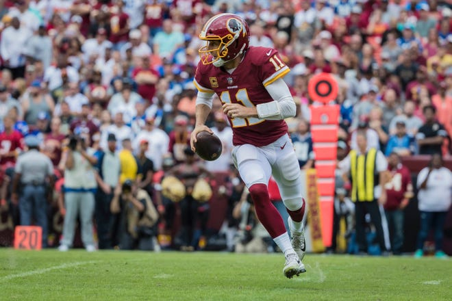 Quarterback Alex Smith has completed at least 70% of his passes in each of his first two games with the Redskins and has yet to throw an interception.