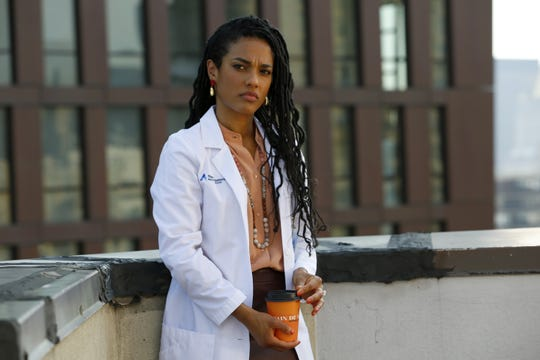 "Freema Agyeman as Dr. Helen Sharpe on ""New Amsterdam."""