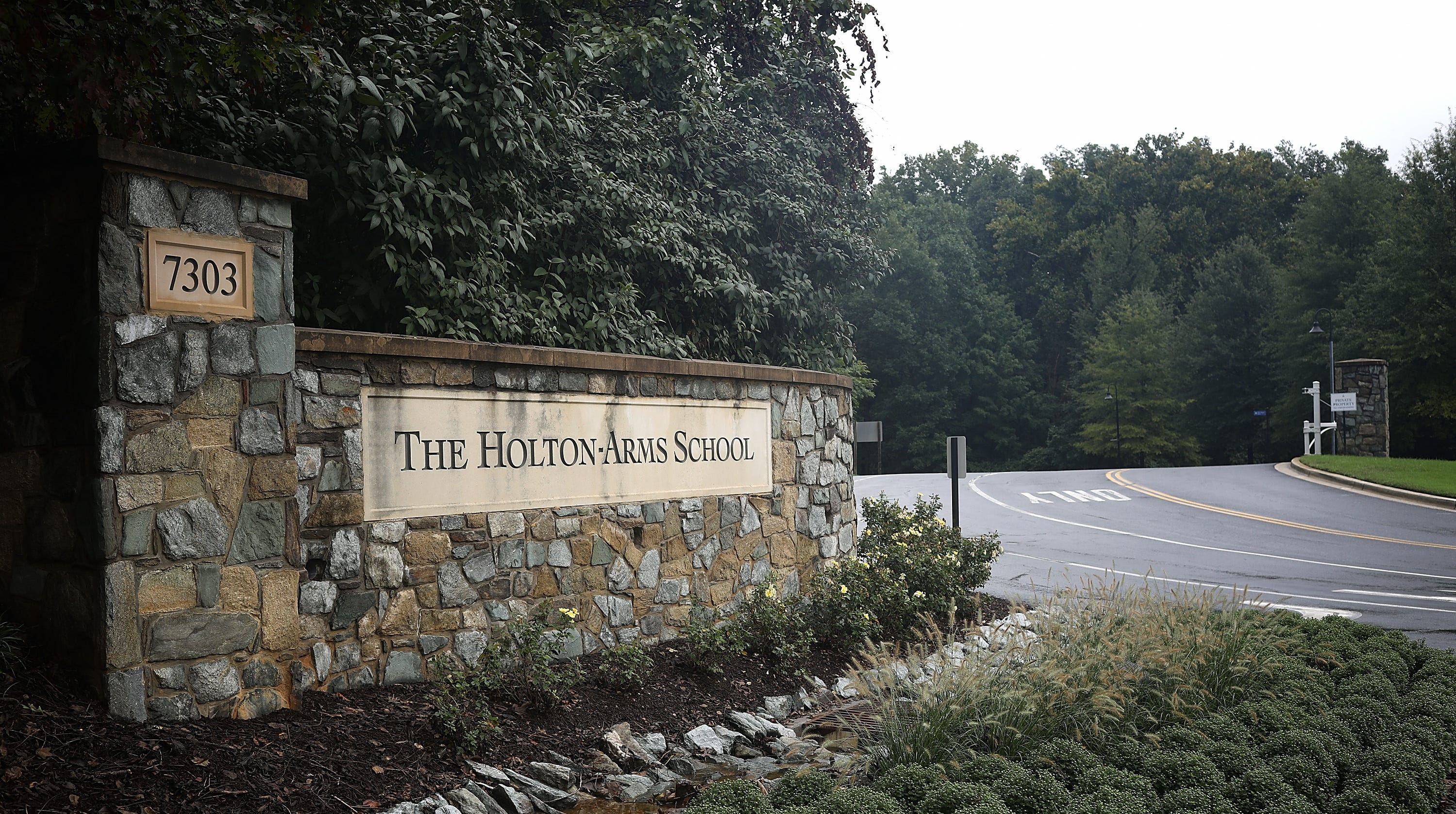 The entrance to the Holton-Arms School in Bethesda, Maryland.