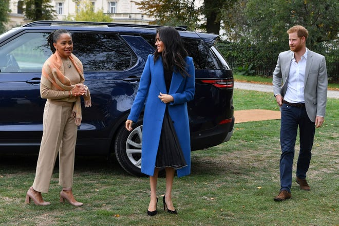 Duchess Meghan brought husband Prince Harry and mom Doria Ragland to the launch party for her cookbook project.