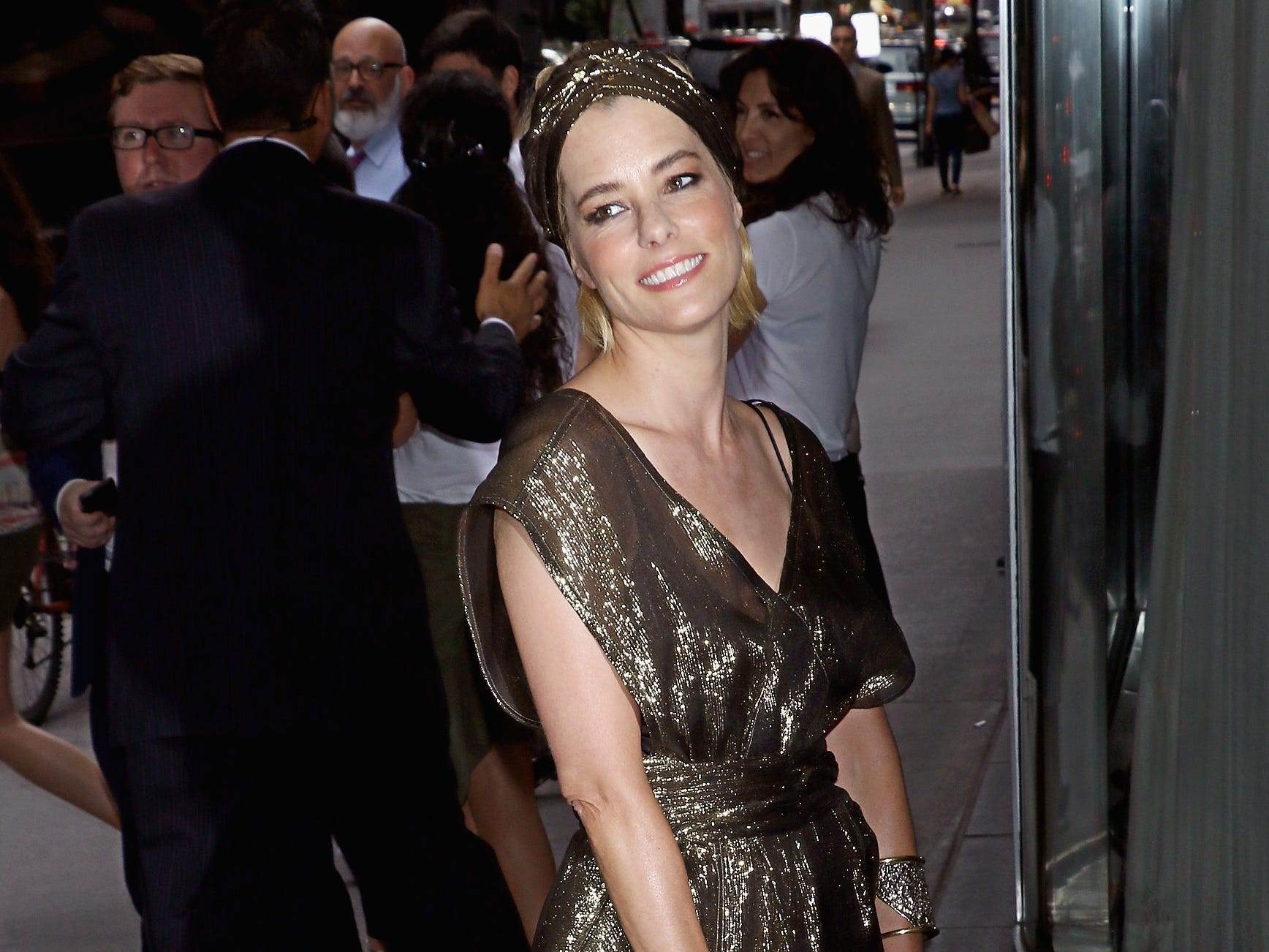 "NEW YORK, NY - JULY 15:  Actress Parker Posey attends The Cinema Society with FIJI Water & Metropolitan Capital Bank host a screening of Sony Pictures Classics' ""Irrational Man"" at Museum of Modern Art on July 15, 2015 in New York City.  (Photo by Jim Spellman/WireImage) ORG XMIT: 565136087 ORIG FILE ID: 480886586"