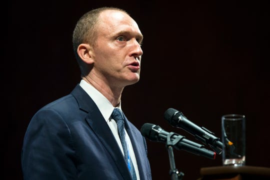 Carter Page speaks in Moscow on July 8, 2016.
