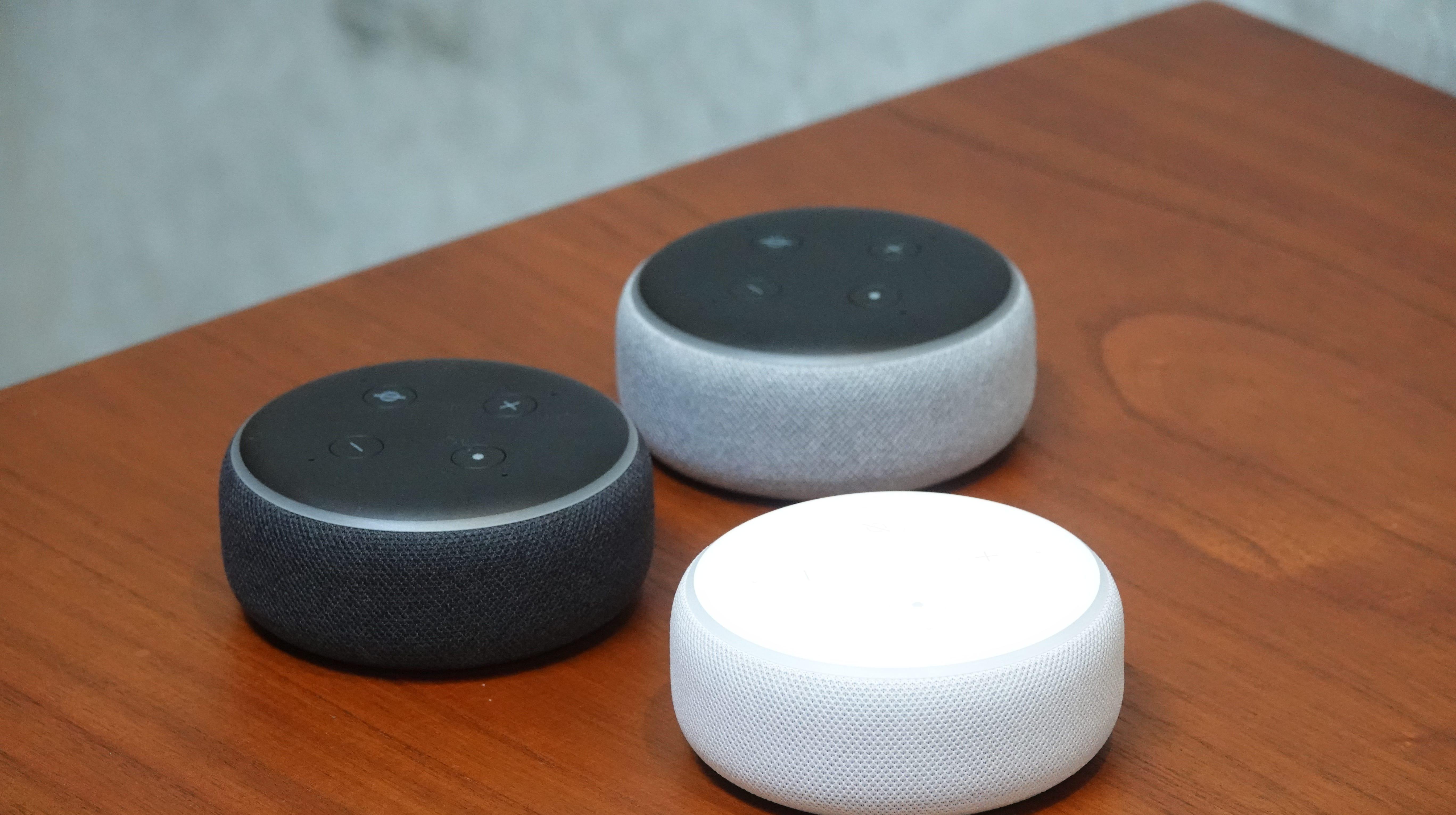 Amazon's new re-designed Dot speakers