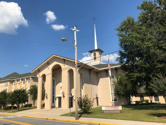 Tabernacle Baptist Church in Cartersville, Georgia, where Clemson freshman Trevor Lawrence and his family attend.