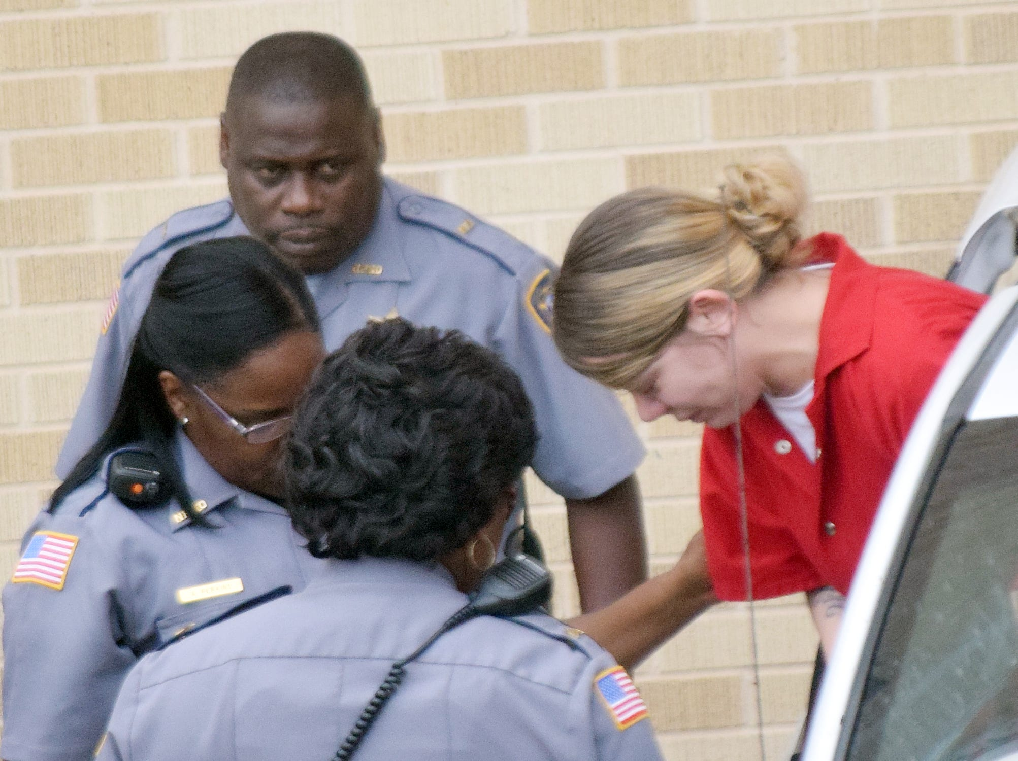 Hanna Nicole Barker (far right), the mother of a baby who died after being found in a fire, is seeking to have bond set, according to court documents. Barker, 22, was arrested by the Natchitoches Police Department on July 25 on charges of being a principal to first-degree murder and criminal conspiracy. She was brought to a Natchitoches Parish courtroom Friday morning for multiple motions, including one to set bond. The motions were filed recently by Shreveport attorney J. Dhu Thompson, a former prosecutor now in private practice.