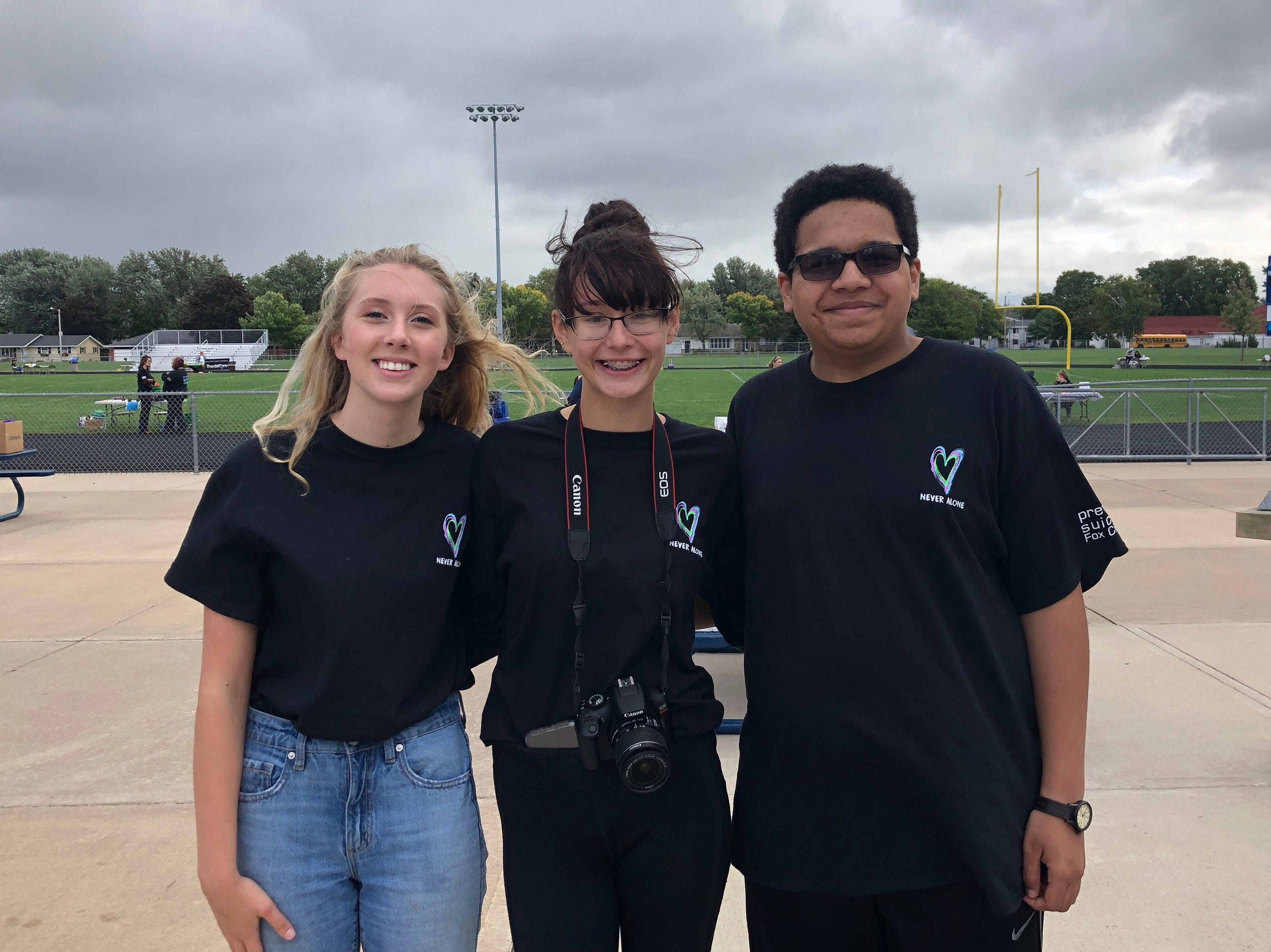Student organizers Amidala Czaja, Montannah Weiss and Keaton Duffe created a mental health festival for students in Little Chute.