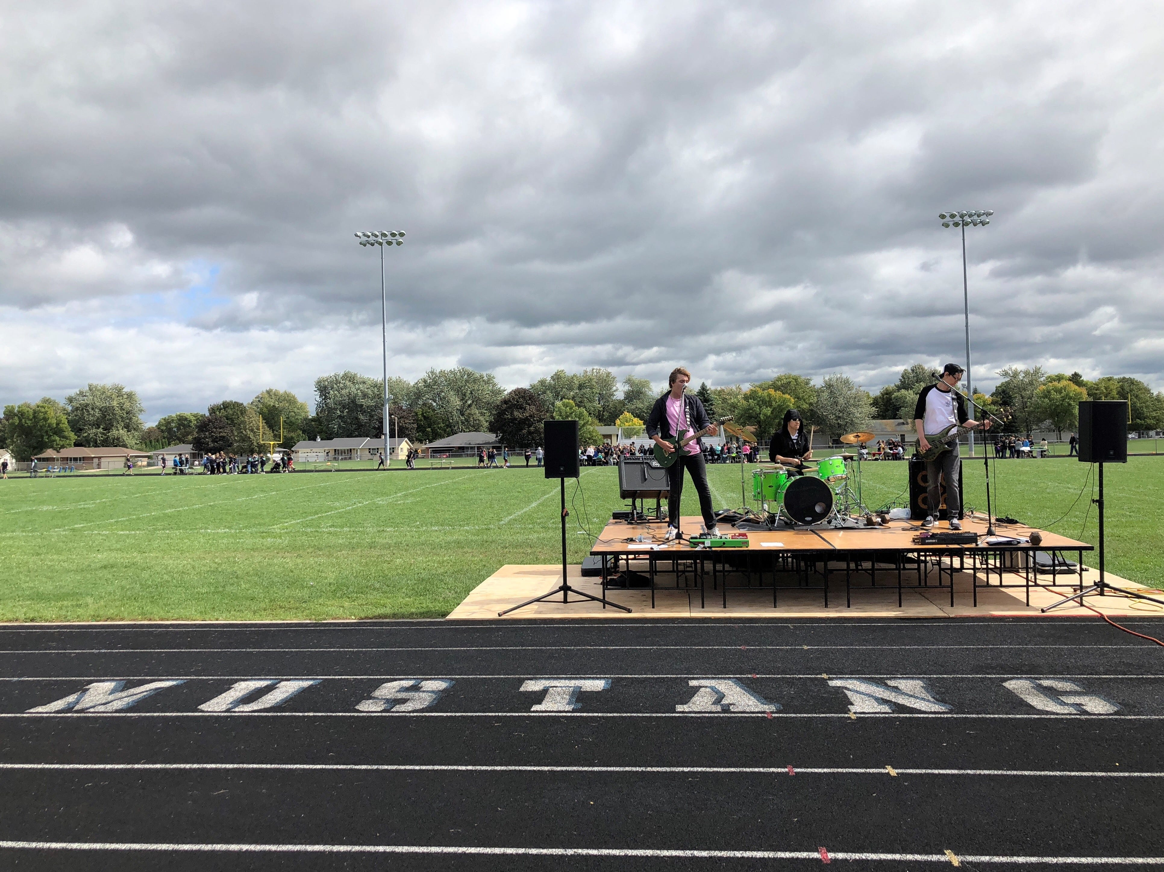 A band performs at the Little Chute student mental health festival, Friday, September 21, 2018.