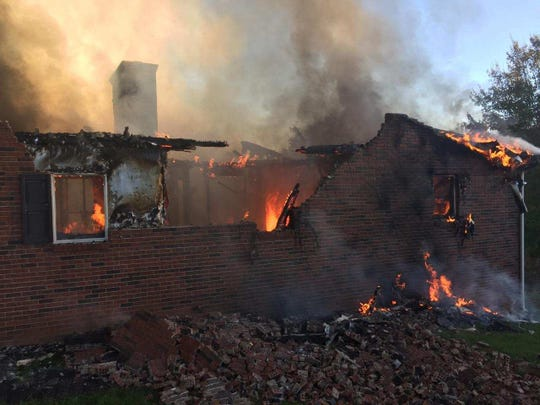 Firefighters from four departments responded to the October 19, 2017, blaze at 134 Phillips Valley Road.