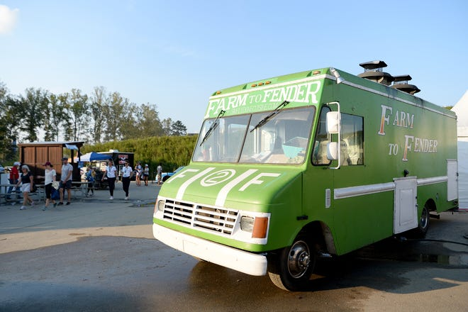 Asheville's Farm to Fender food truck was one of the food truck options on site at the FEI World Equestrian Games at the Tryon International Equestrian Center.