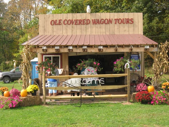 One fun way to the the Pennsylvania Grand Canyon is on a covered wagon tour.