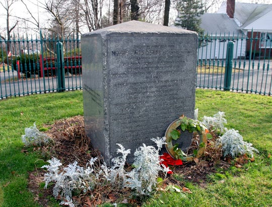 Andre Hill, in Tappan, hosts a gated monument on the site where Major John Andre, British spy, was hanged and buried in 1780.