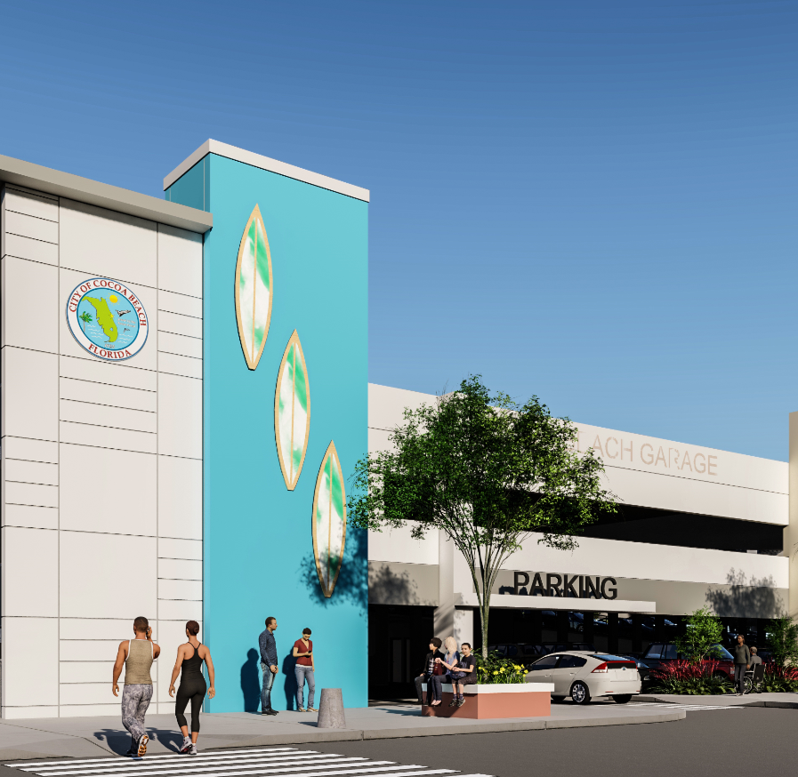 Cocoa Beach downtown parking garage construction is underway on South Orlando Avenue