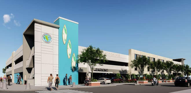 This artist's rendering depicts the future Cocoa Beach downtown parking garage.