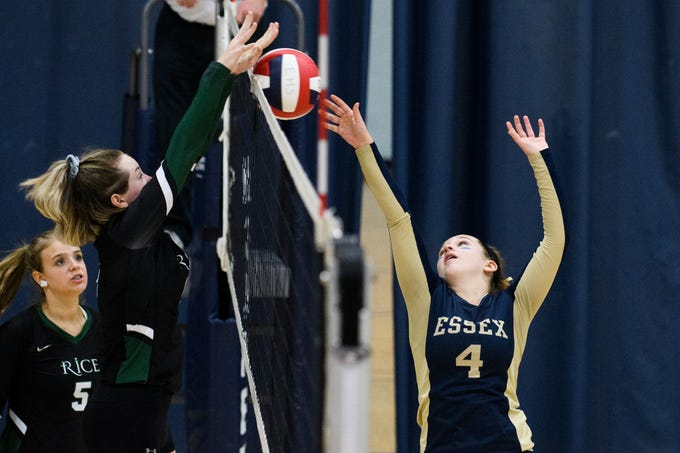 PHOTOS: Essex clashes with Rice in girls volleyball