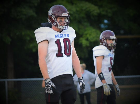 Mount Abraham football player Kevin Pearsall is this week's Vermont Varsity Insider boys athlete of the week.