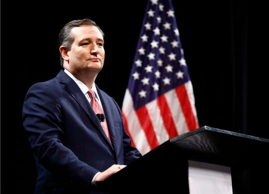 Republican U.S. Sen. Ted Cruz takes part in a debate for the Texas U.S. Senate seat with Democratic U.S. Rep. Beto O'Rourke on Sept. 21, 2018, in Dallas.