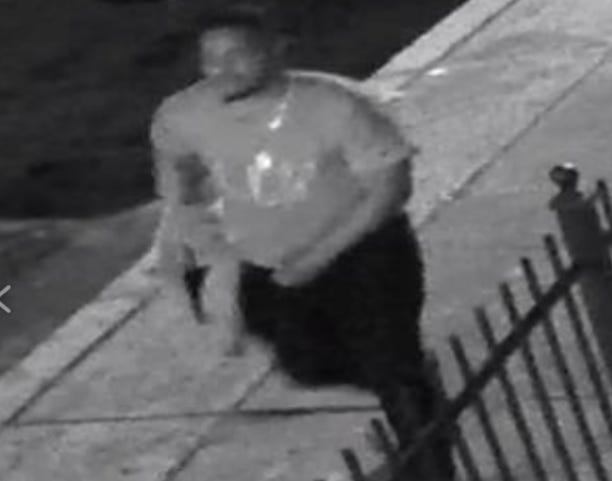 Investigators want to question this man about the Sept. 13 slaying of Brian Faulkner on an East Camden street.