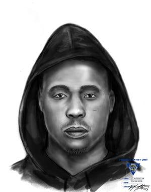 Police sketch of Evesham home invasion suspect
