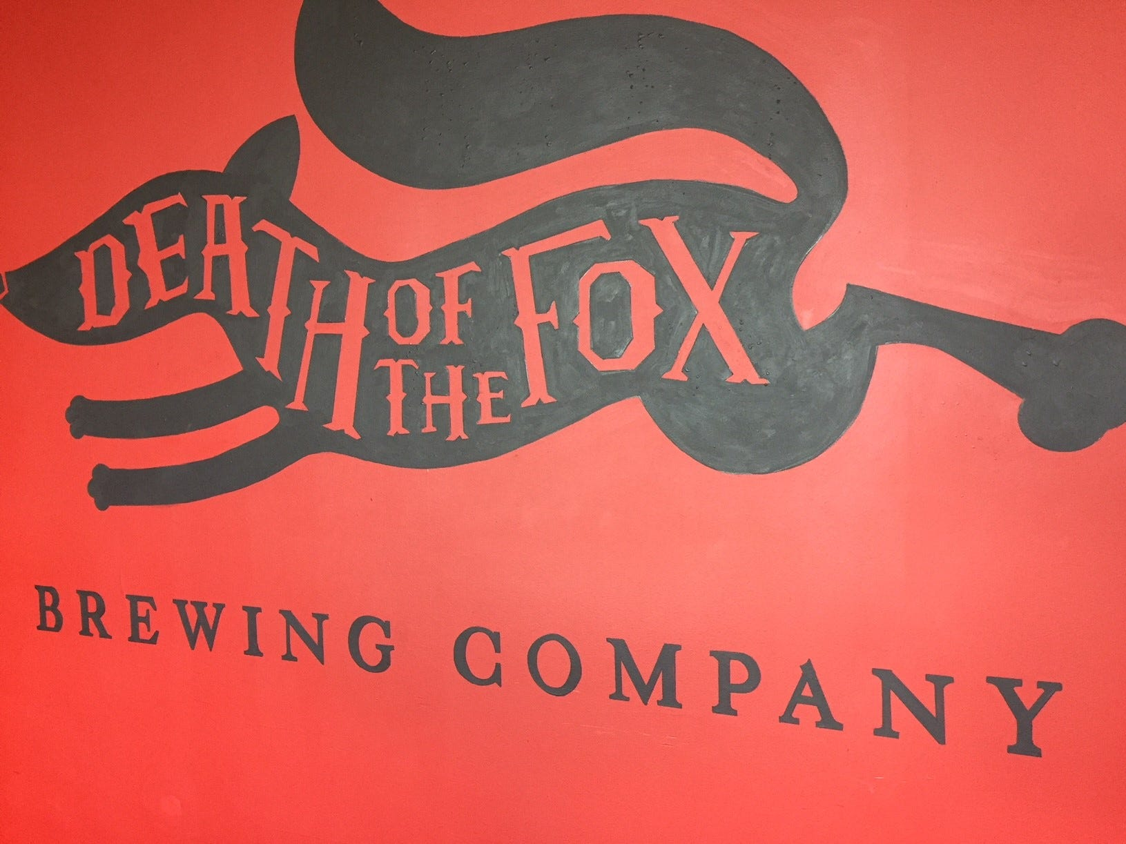 Death of the Fox Brewing Company draws on the rich Colonial history of the region.