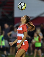 Fairfield's Alexis Goins controls a pass against Loveland Thursday, Sept. 20, 2018 in Fairfield, Ohio