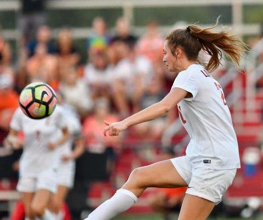 Loveland's Kaitlyn Andrews controls a pass against Fairfield Thursday, Sept. 20, 2018 in Fairfield, Ohio