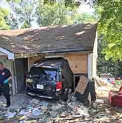 Woman injured after crashing van into Clarksville home