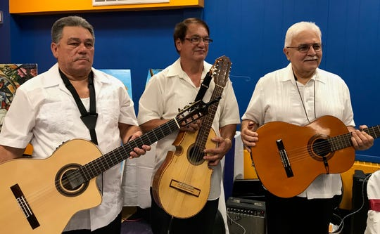 Grupo Tropical de Perth Amboy singers and musicians performed at the Puerto Rican Association for Human Development's event Thursday reflecting on the first anniversary of Hurricane Maria.