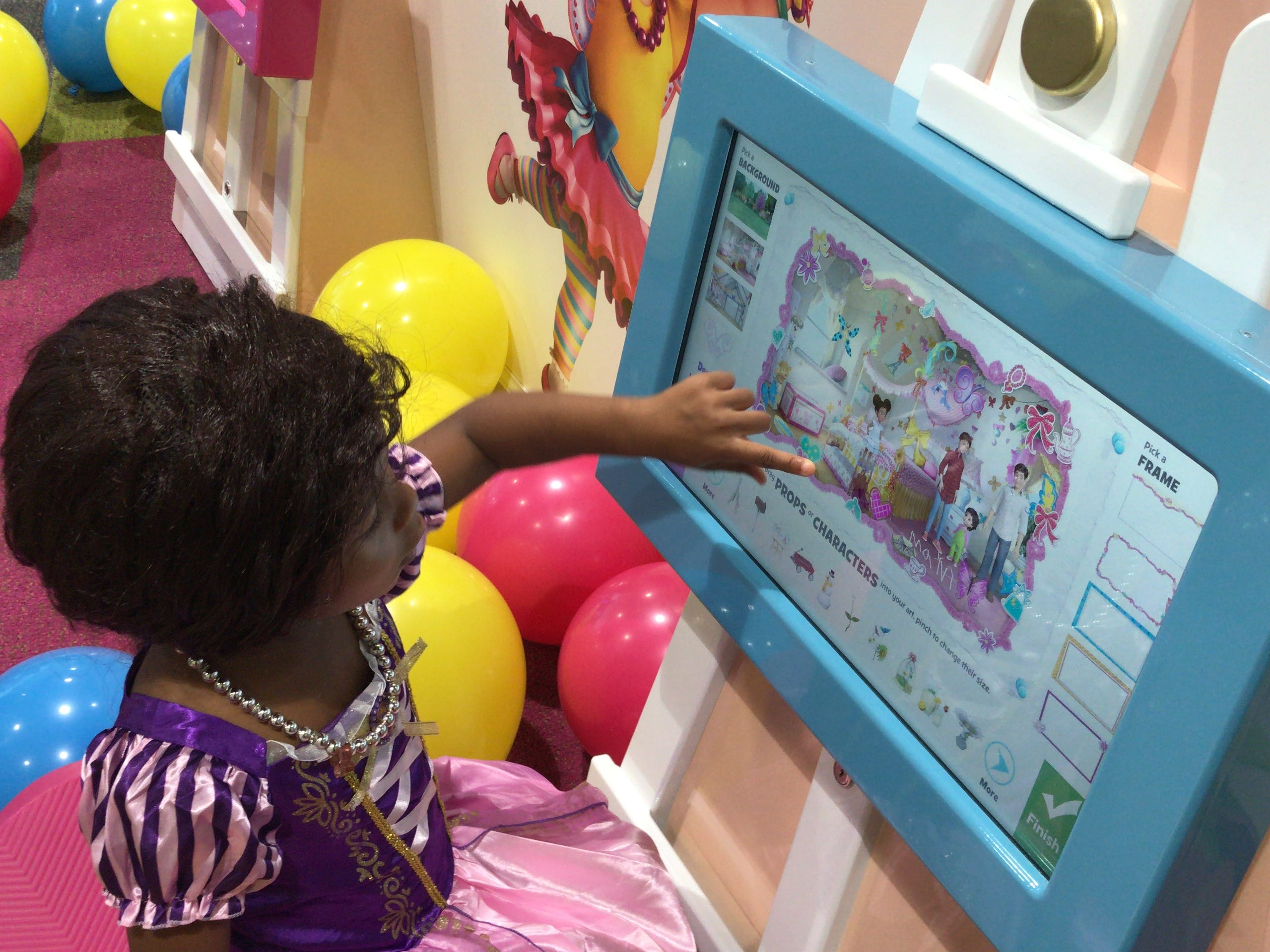 Scenes from Grace Cheatham, 3, of Metuchen, enjoys Disney Junior Play Zone at Menlo Park Mall in Edison.