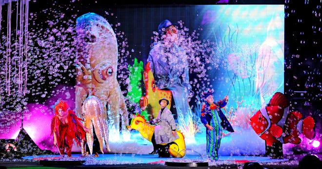 Explore the wondrous underwater world of Bubblelandia and all its beautiful sea creatures in B—The Underwater Bubble Show at the State Theatre.