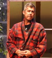 """Jeff Wherley stars as John Cummings, a Canadian newspaper columnist, in """"Here on the Flight Path"""" opening at the Triple Locks Theater."""