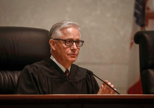 Chief Justice Mark Cady, pictured in September 2018, was appointed by Republican Gov. Terry Branstad but often sides with liberals in rulings. He will reach retirement age in 2025.