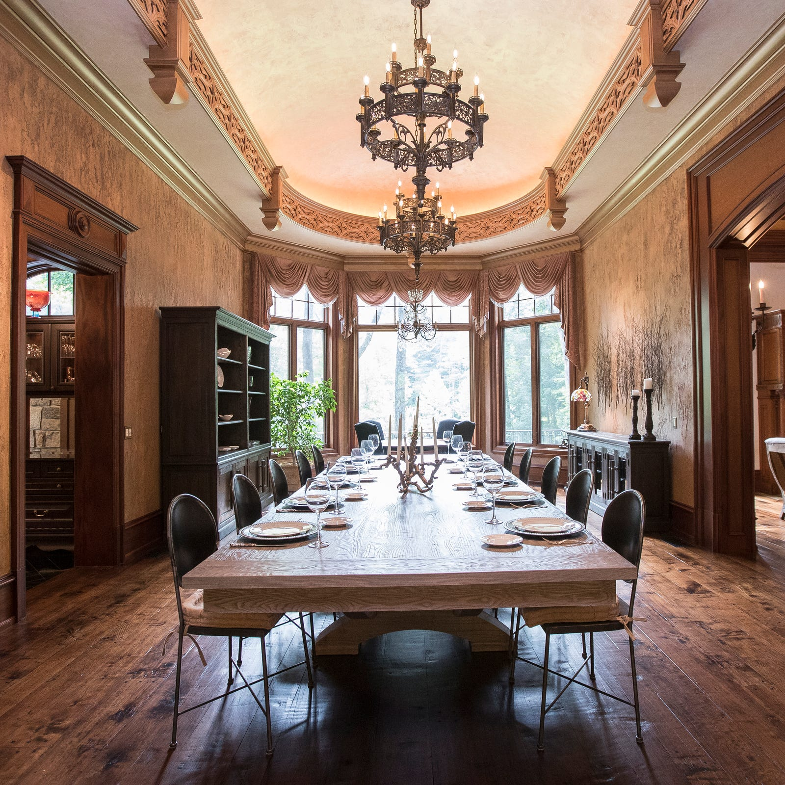 What you get for $7.5M: Room to entertain 350 and a lot of mahogany