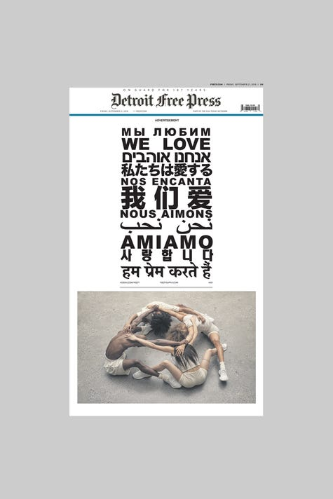 bb9c8266f8d Kanye West s Yeezy Boost ad takes over Detroit newspapers