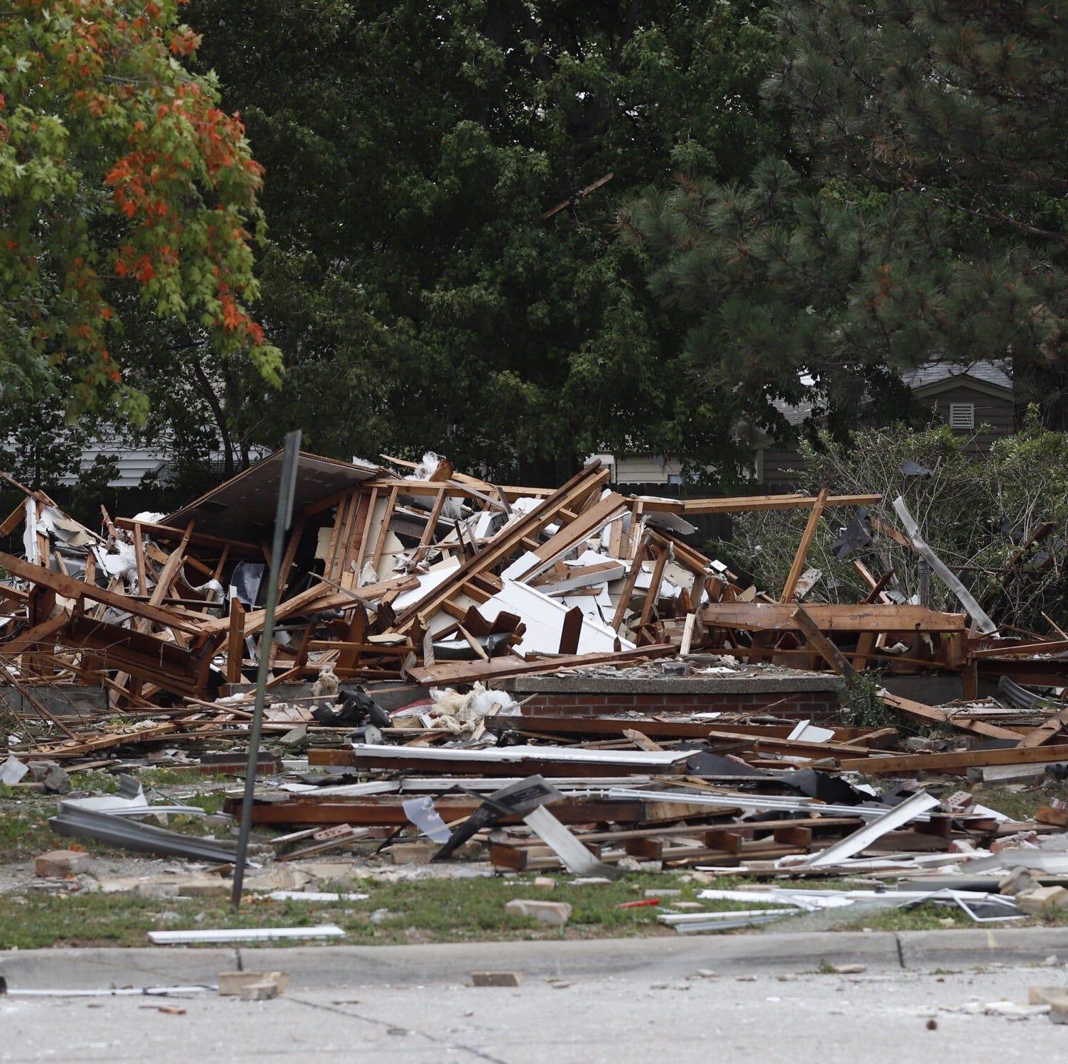 Explosion destroys Harper Woods home, injures 3; gas leak suspected