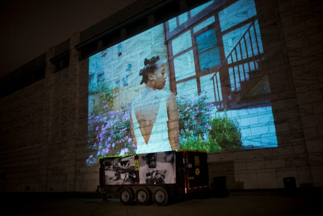 In 2016, about 800 people attended the Documenting Detroit photography show on the southeast lawn of the Detroit Institute of Art where photographs were projected nearly 100 feet wide on the wall of the museum.