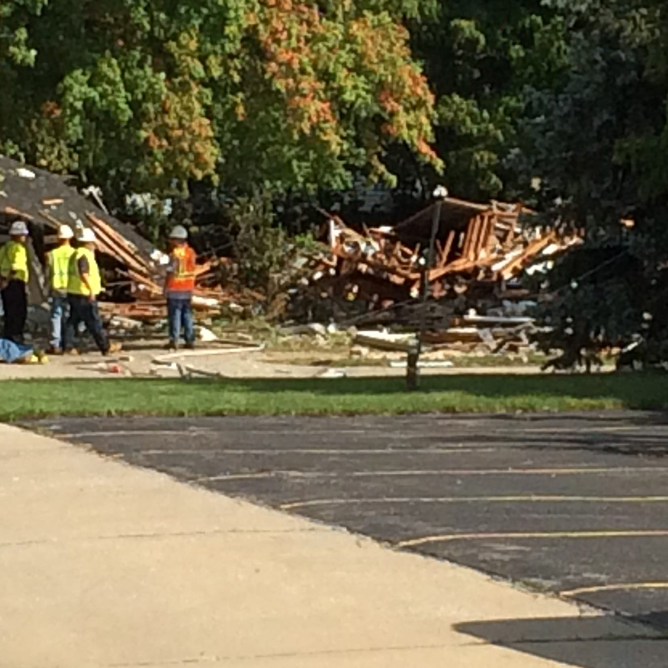Harper Woods house explosion 'sounded like a bomb'