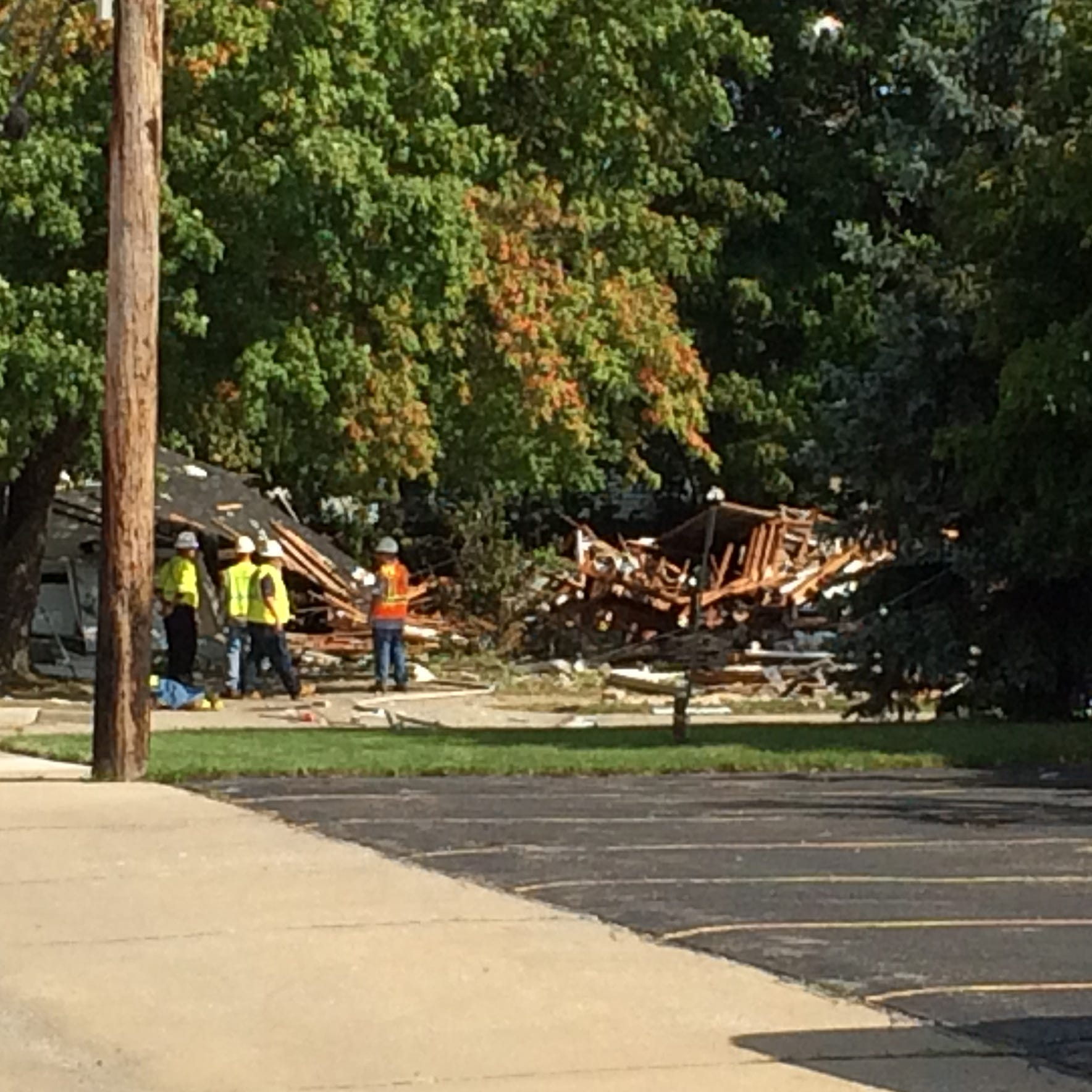 House explodes in Harper Woods, injuring two