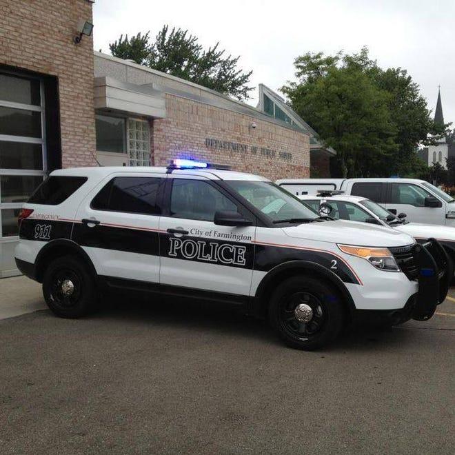 Farmington police vehicle