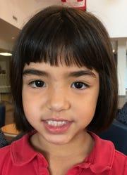 Annamaria Teoh-Malfatti, 5, Evansville Day School kindergartener.