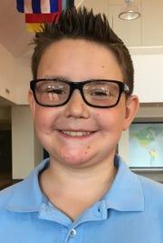 Max Overby, 9, Evansville Day School fourth grader.