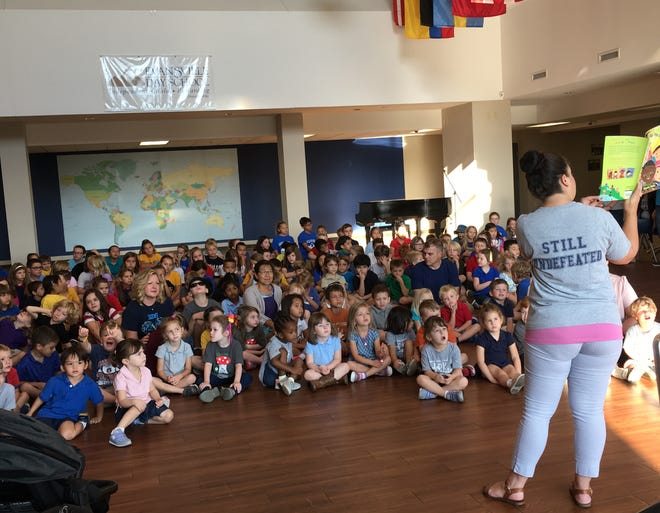 About 150 Evansville Day School students in junior prekindergarten (age 3) through fourth grade celebrated peace Friday on the United Nation's International Day of Peace.