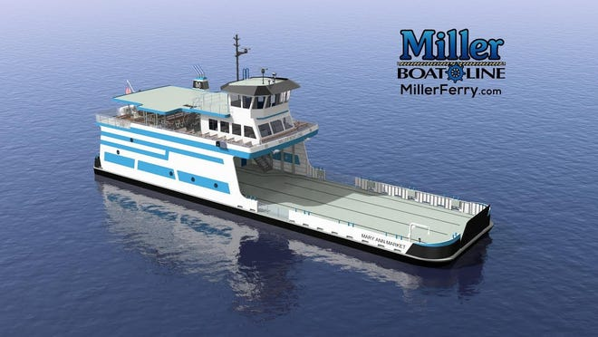 An artist's rendering of the new Mary Ann Market ferry to debut for Miller Boat Line in 2019.