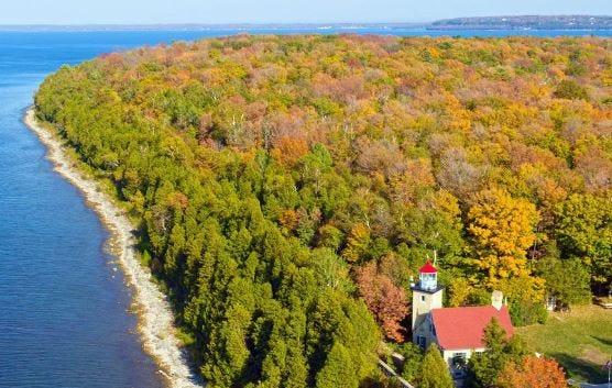 Fall scene of Door County