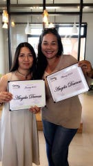 "Angela Duenas , right, of Century 21 Commonwealth wins Pika Best of Guam 2018 ""Best Realtor."""