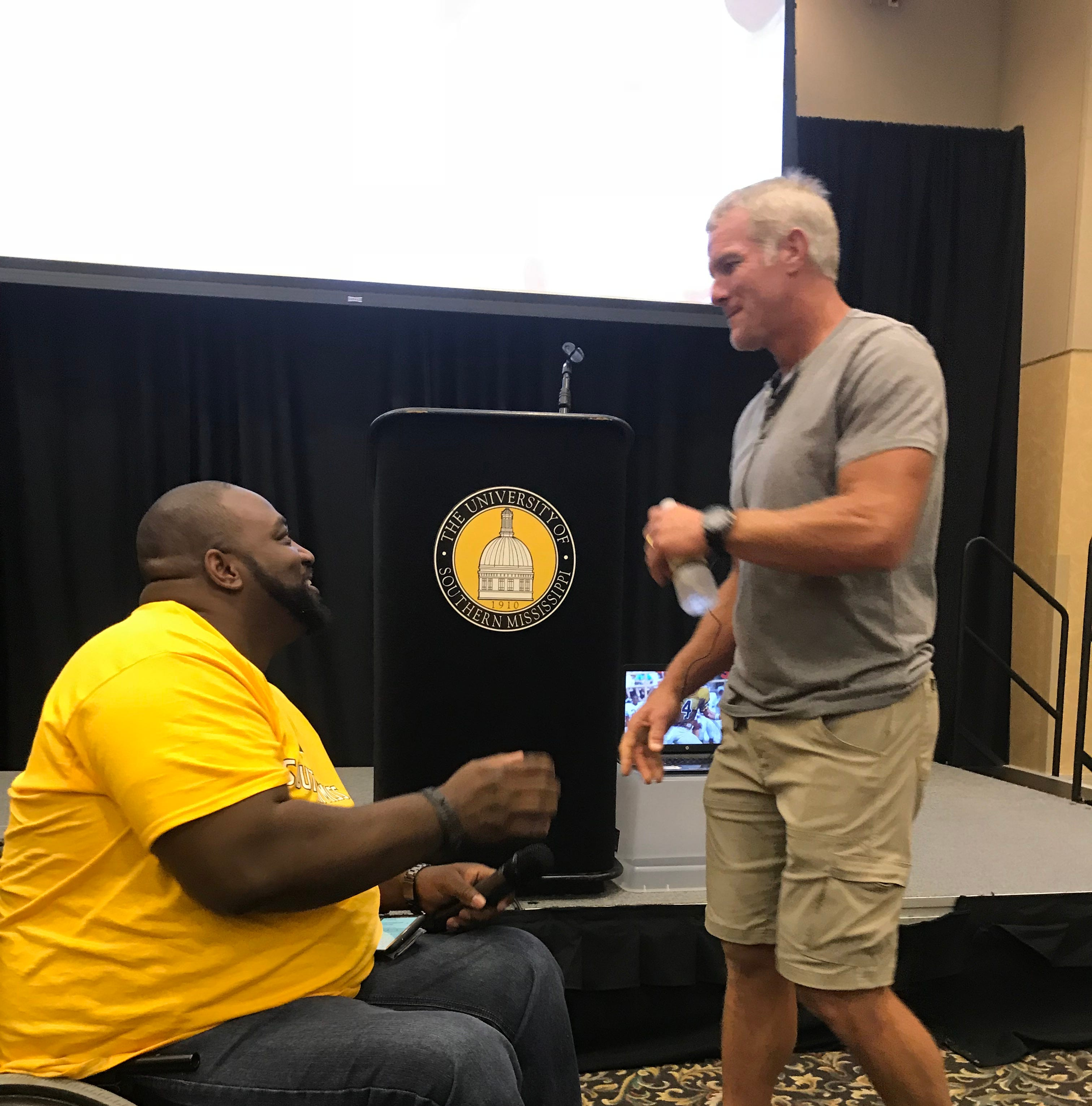 NFL legend Brett Favre tells students with disabilities: 'Underdogs win'
