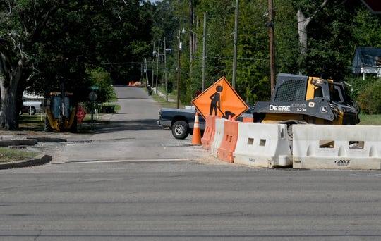 Construction on the corner of Xavier and Hardy St. in Hattiesburg.