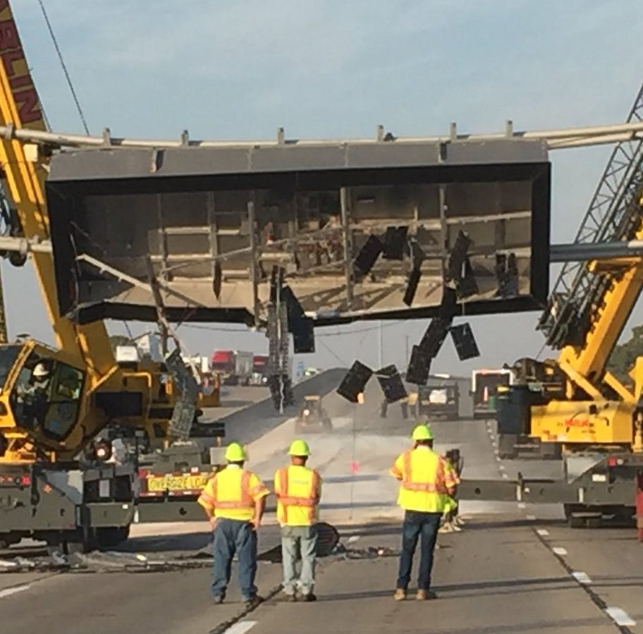 Westbound I-70 on the east side has reopened after truck destroyed message board