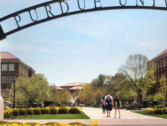 A former Purdue University professor is accused in a lawsuit of sexually assaulting a student at the school.