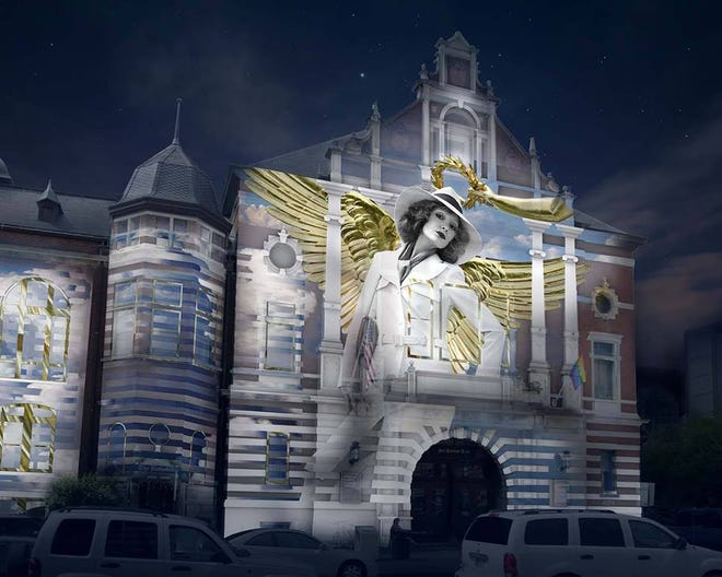 """German Influencers: Light-Art Show"" will illuminate the side of the Athenaeum Oct. 6."